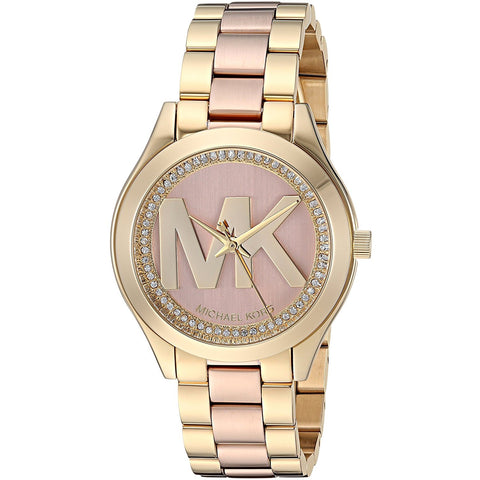 Michael Kors Mini Slim Runway Two Tone Three Hand Watch