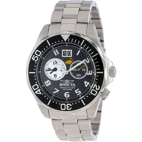 Invicta Men s 14440 Pro Diver Black Carbon Fiber Dial Stainless Steel Watch