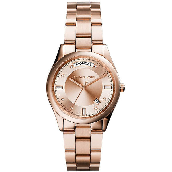 Michael Kors Women s Colette Watch, Rose Gold, One Size