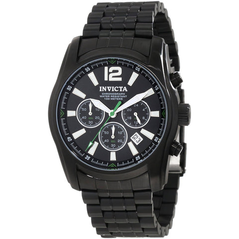 Invicta Men s 10629 Specialty Chronograph Black Dial Ion Plated Stainless Steel Watch