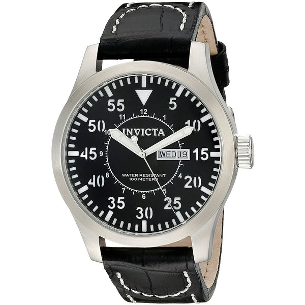 Invicta Men s 11184 Specialty Black Leather Watch