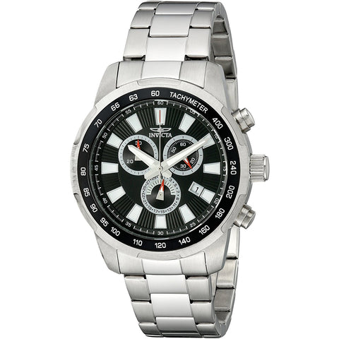 Invicta Men s 1555 Specialty Chronograph Black Dial Stainless Steel Watch