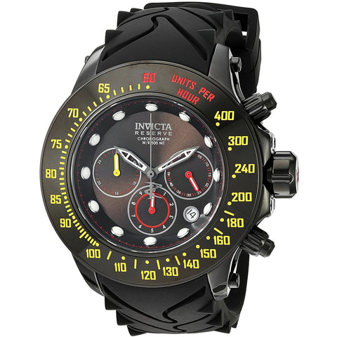 Invicta Men s Reserve Swiss Quartz Stainless Steel and Silicone Casual Watch, Color Black Model 22141