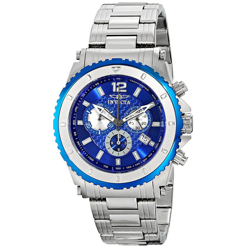 Invicta Men s 1009 II Chronograph Blue Dial Stainless Steel Watch