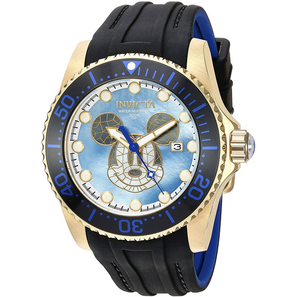 Invicta Men s Disney Edition Automatic Stainless Steel and Silicone Casual Watch, Color Black Model 22751