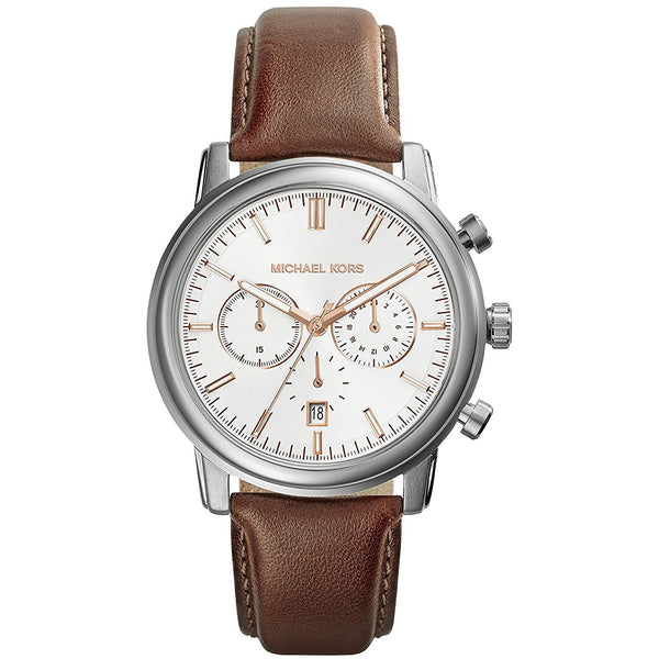 Michael Kors MK8372 Men s Pennant Brown Leather Chronograph Watch