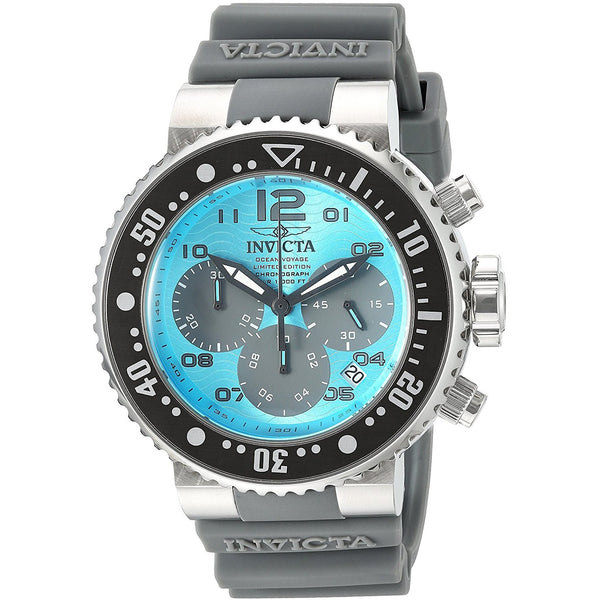 Invicta Men s Pro Diver Quartz Stainless Steel and Silicone Casual Watch, Color Grey Model 24292