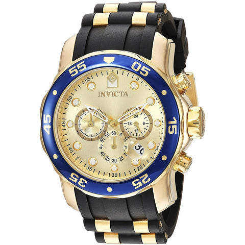 Invicta Men s Pro Diver Quartz and Stainless Steel Casual Watch, Color Gold Toned Model 17881