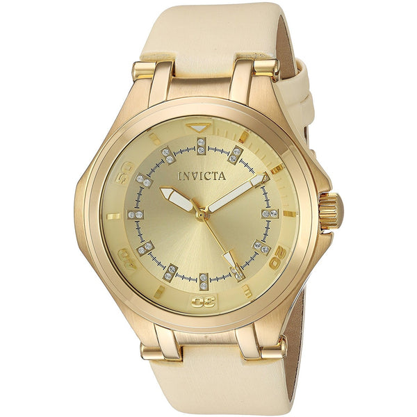 Invicta Women s Wildflower Quartz Stainless Steel Casual Watch, Color Beige Model 21760