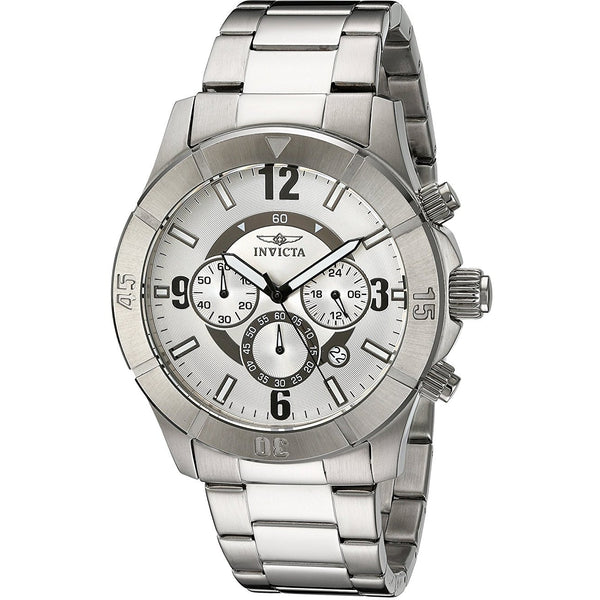 Invicta Men s 1422 Specialty Chronograph Silver Dial Stainless Steel Watch