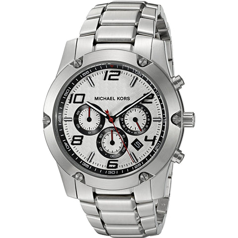 Michael Kors Men s Caine Silver Tone Watch MK8472