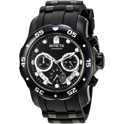 Invicta Men s Pro Diver Quartz Stainless Steel and Silicone Watch, Color Black Model 21930