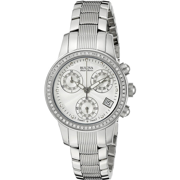 Bulova Accu Swiss Womens 63R141 Diamond Watch