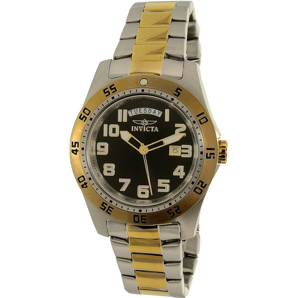 Invicta Men s Specialty 6692 Gold Silver Stainless Steel Quartz Dress Watch