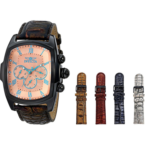 Invicta Men s 12645 Lupah Grand Collection Watch with Interchangeable Leather Straps SeT