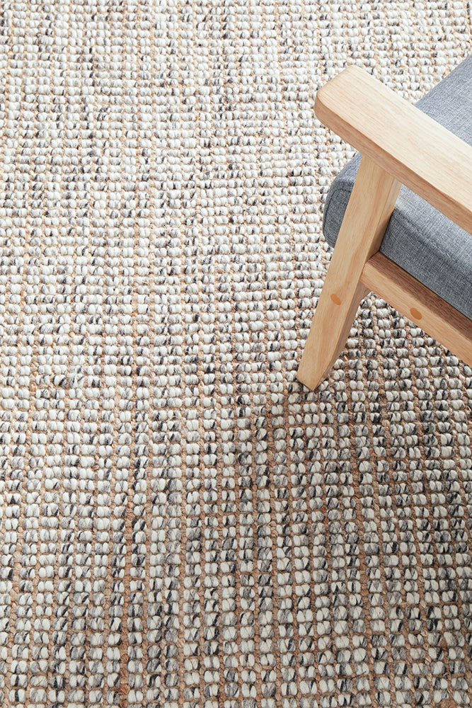 Aspera Grey Natural Wool Rug