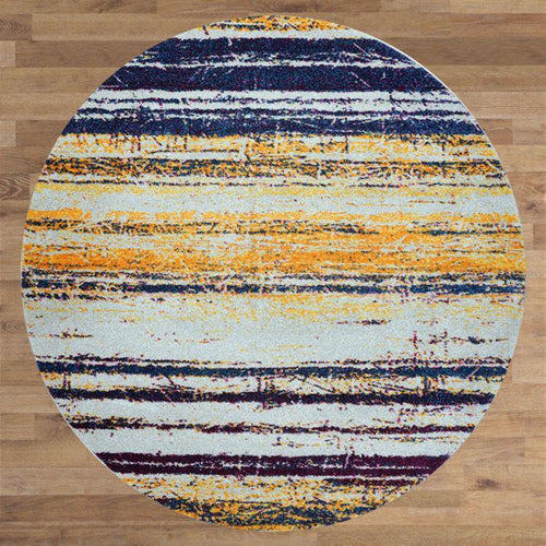 Bella Rugs 1093 Blue Round Rugs - star-rugs