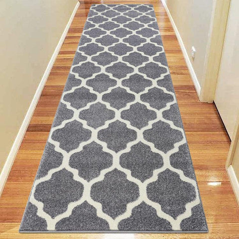 Avoca Collection 742 Light Grey Hallway Runner