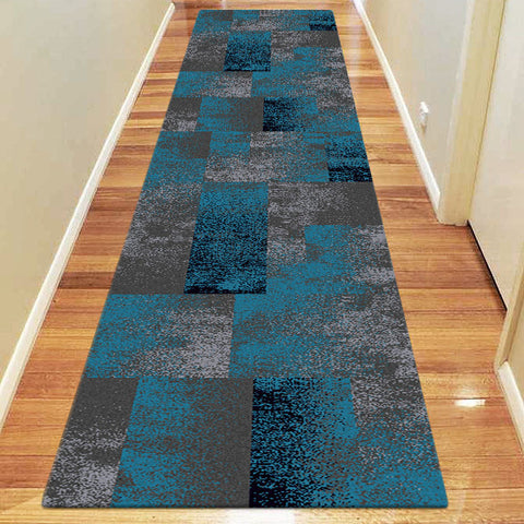Avoca Collection 444 Blue Hallway Runner