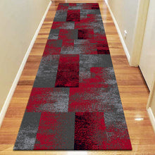 Avoca Collection 444 Red Hallway Runner - star-rugs
