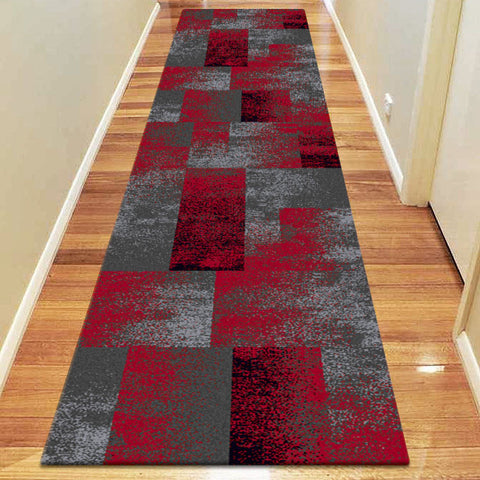 Avoca Collection 444 Red Hallway Runner