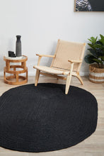 Bondi Natural Black Oval Jute Rug