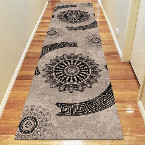 Chali Collection 6447 Brown Hallway Runner