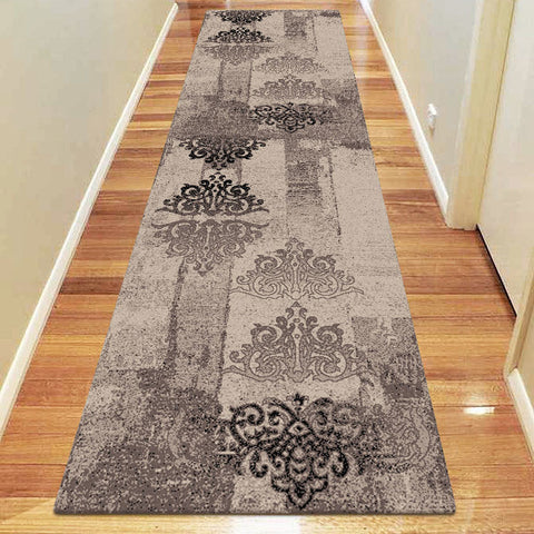 Chali Collection 6968 Brown Hallway Runner