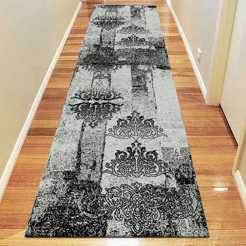 Chali Collection 6968 Grey Hallway Runner