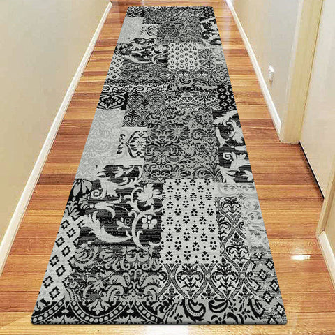 Chali Collection 0583 Black Hallway Runner