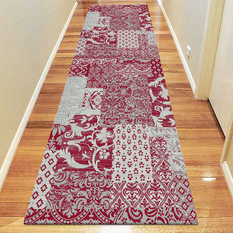 Chali Collection 0583 Red Hallway Runner