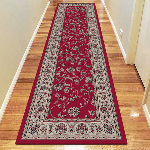 Diamond Collection 5937 Red Hallway Runner