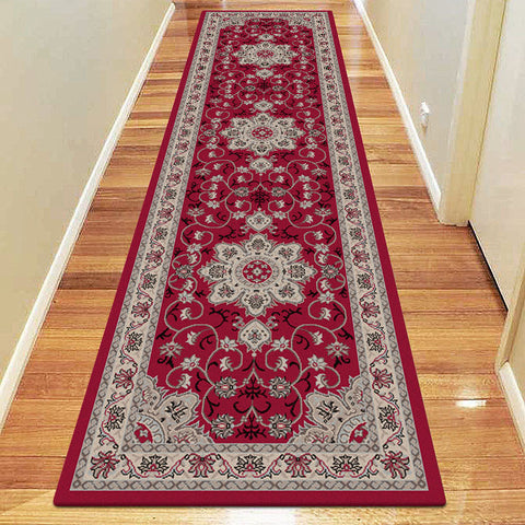Diamond Collection 6267 Red Hallway Runner