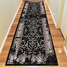 Diamond Collection 3465 Black Hallway Runner
