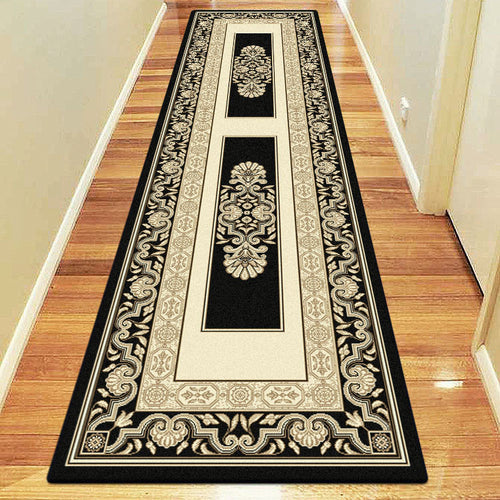 Empire Collection 7652 Black Hallway Runner
