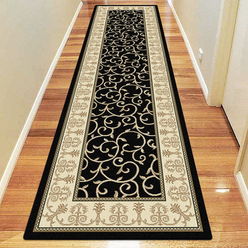 Empire Collection 7653 Black Hallway Runner
