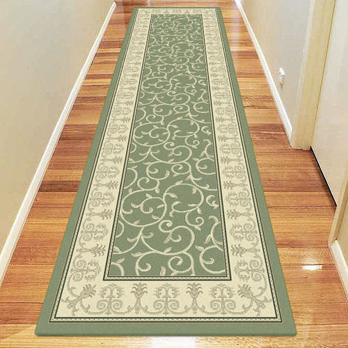 Empire Collection 7653 Green Hallway Runner