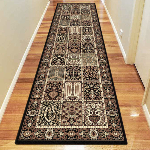Empire Collection 7654 Black Hallway Runner