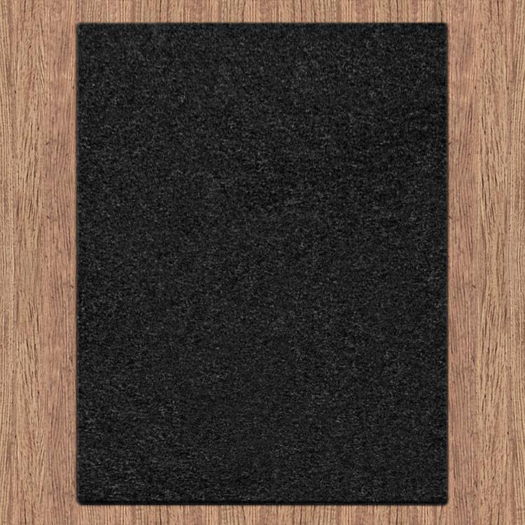 Europa Collection 1000 Black Hallway Runner