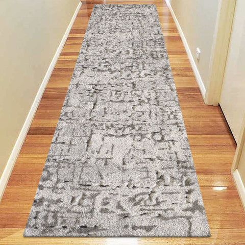 Elegant 9506 Light Grey Hallway Runner