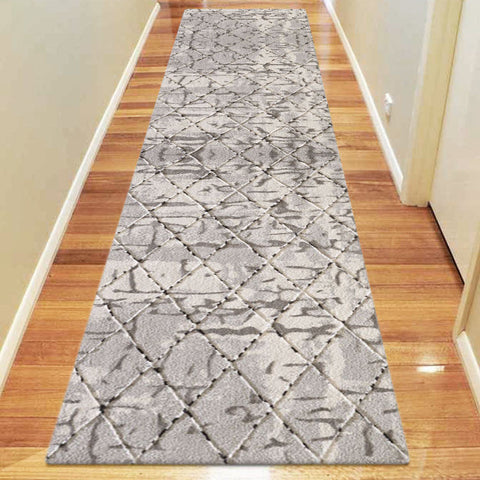 Elegant 9698 Light Grey Hallway Runner