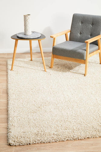 Lara Cream shaggy Rug