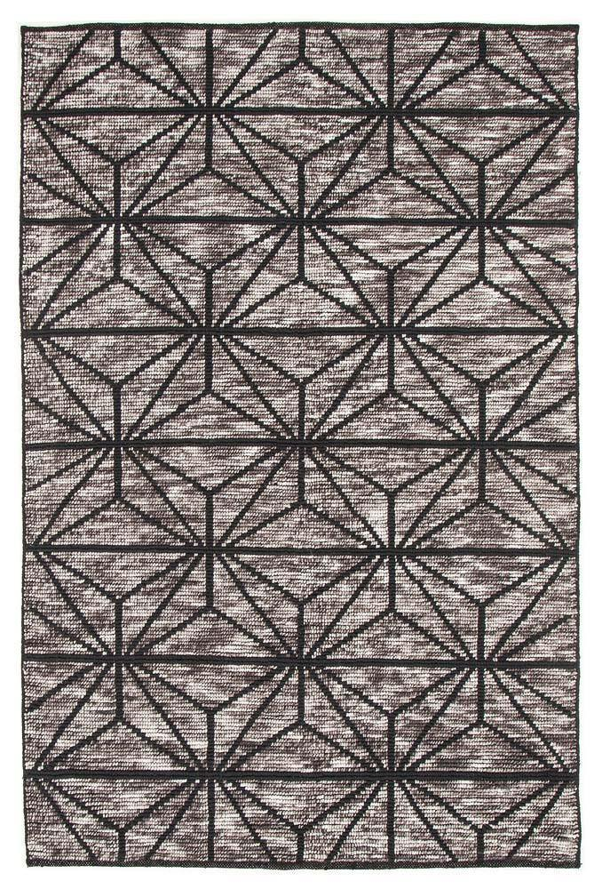 Bonita 737 Charcoal Wool and Viscose Rug