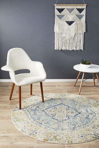 Admire 867 SKY Round Rug - star-rugs
