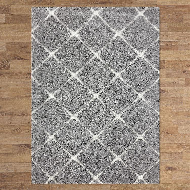 Orlando 328 Grey  soft Shaggy Rug
