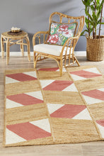 Paris 111 Coral Natural jute and Cotton Rug