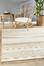 Paris 333 White Natural jute and Cotton Rug