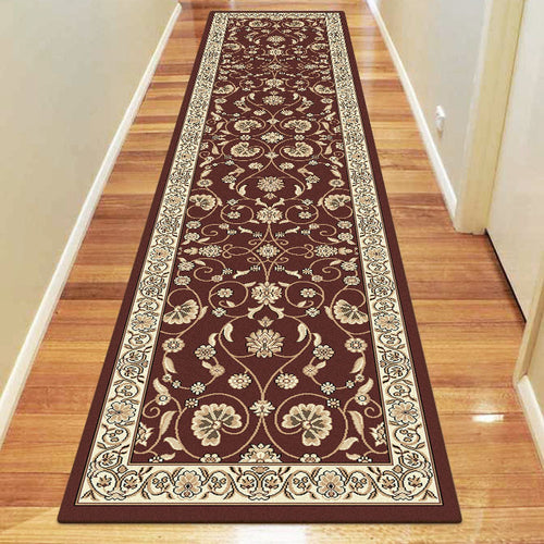 Oriental Collection 8001 Brown Hallway Runner