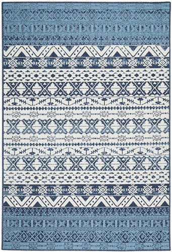 Outdoor Sea  White Blue Rug
