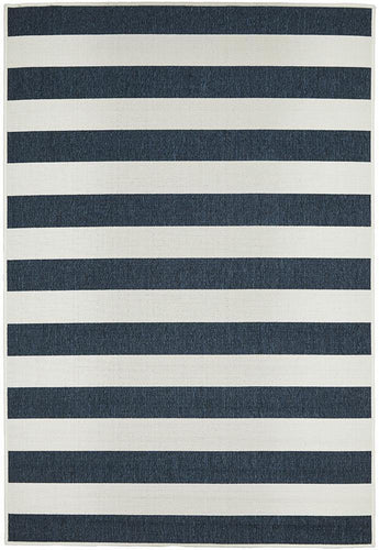 Outdoor Sea Navy White Rug